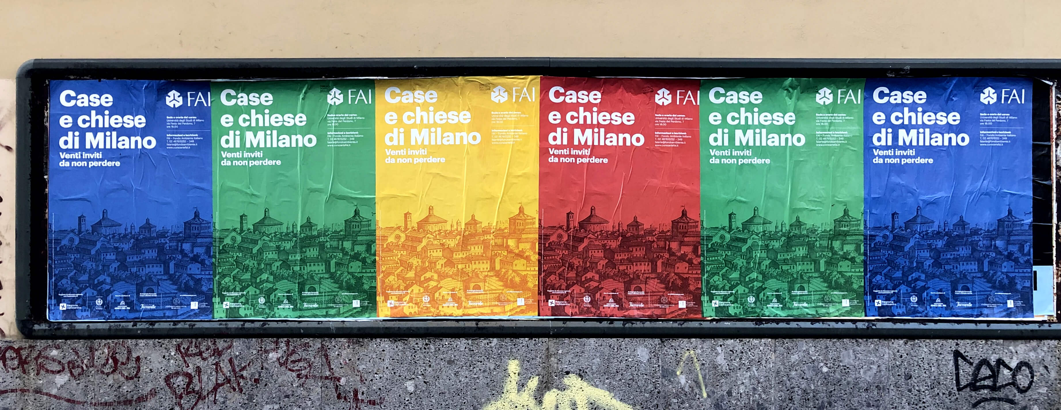 manifesti case e chiese di Milano